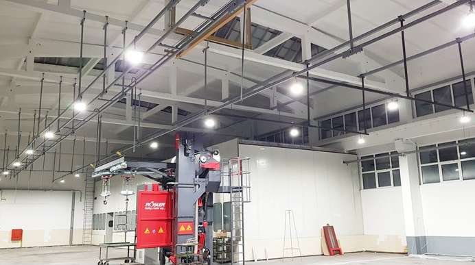 Интер Пауър достави осветление за новото производствено хале на Цератицит България