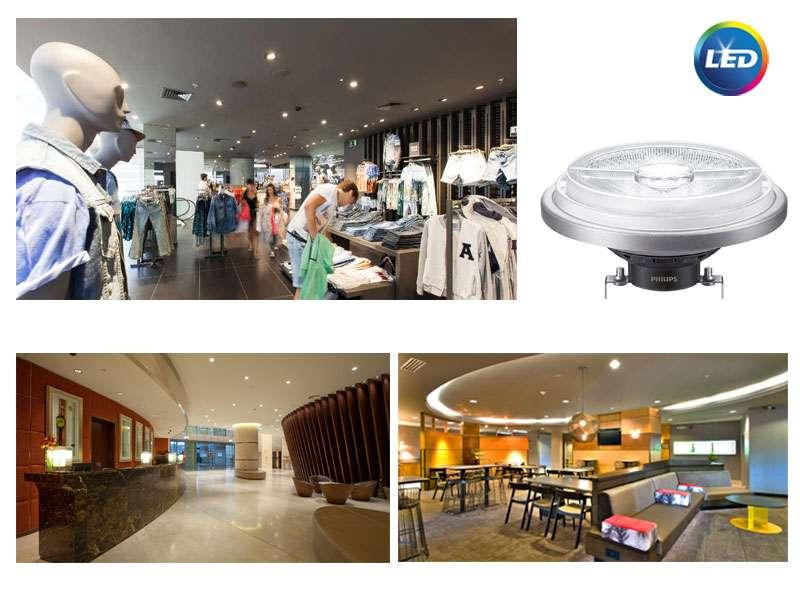 PHILIPS MASTER LEDspot AR111 - креативно търговско осветление