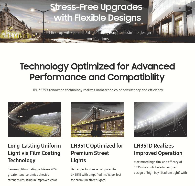 Актуализиран уебсайт на <strong>Samsung</strong> LED