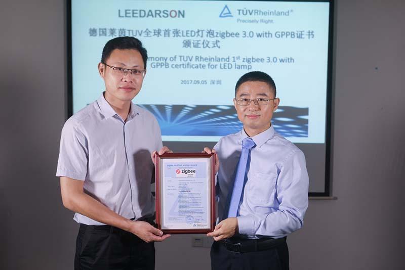 Leedarson с първата в света <strong>Zigbee</strong> 3.0 LED лампа, сертифицирана от TÜV