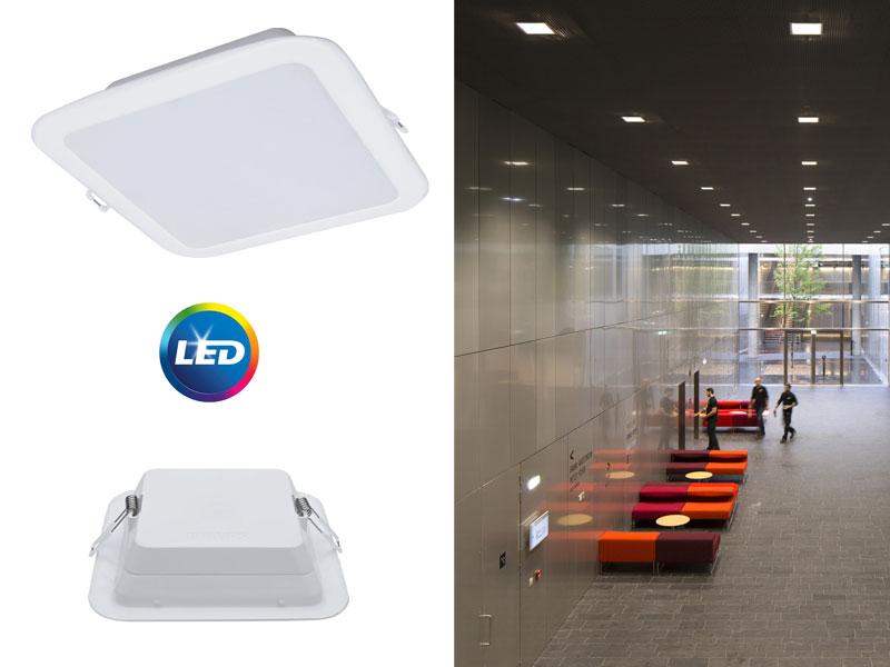 Серията професионални осветители Ledinaire Slim Downlight LED