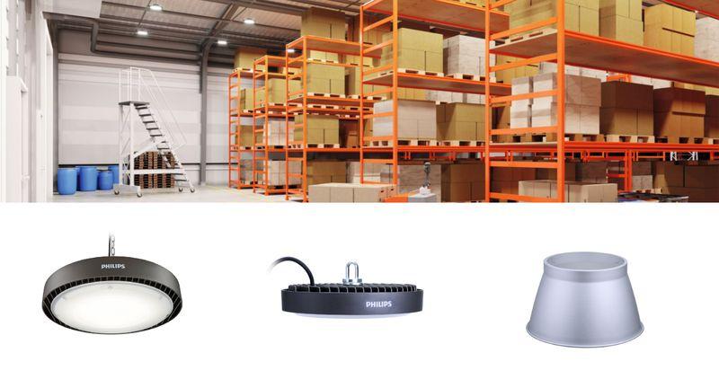 Професионални LED осветителни тела Philips High-Bay