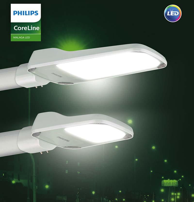 Ефикасно улично осветление CoreLine Malaga LED