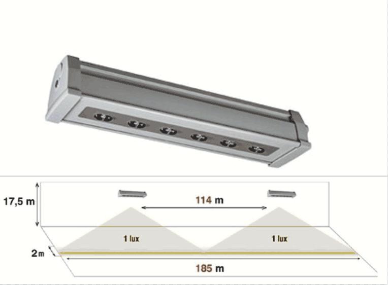 LED <strong>аварийно</strong> <strong>осветление</strong> за големи височини