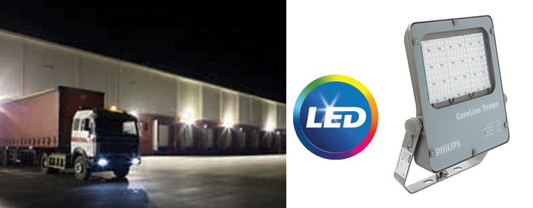 Компактни и устойчиви LED прожектори PHILIPS CoreLine Tempo